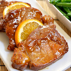 Orange Molasses Pork Chops