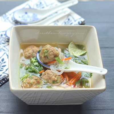 Potsticker Meatball Asian Noodle Soup – Low Carb & Gluten Free