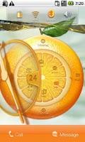 Screenshot of Orange Watch Free MXHome Theme