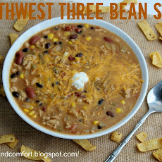 Southwestern Three Bean Soup with Chicken