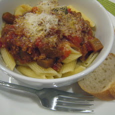Vegetable Bolognese with Eggplant