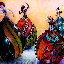 Dancing Ladies by Tricia Scott - Digital Art Things ( dancing, color, status, dress, lady, tribute,  )