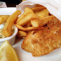 Gluten free fish and chips with fresh tartar sauce!!! Loved it!!