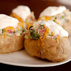 Ww Ham and Cheese Stuffed Potatoes-7 Points