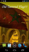 Screenshot of 3D Morocco Flag Live Wallpaper