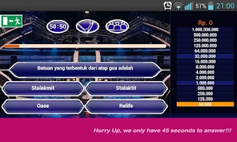 Screenshot of Kuis Millionaire Indonesia