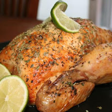 Easy Lime Basil Roast Chicken