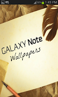Screenshot of Galaxy Note Wallpaper