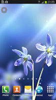 Screenshot of Blue Blossom Live Wallpaper
