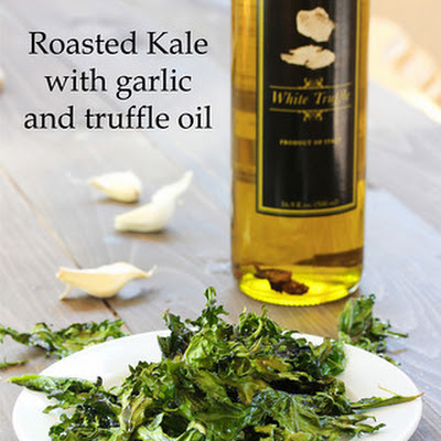 Roasted Kale with Garlic and Truffle Oil