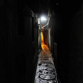 Don't look back... There's hope! by Rai Bose - City,  Street & Park  Street Scenes ( kolkata, kumartuli, light, hope, alley )