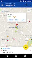 Screenshot of CG Transit offline jízdní řády