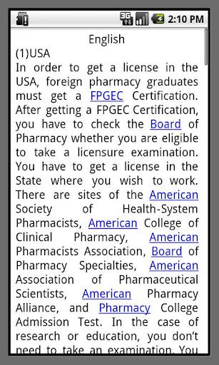 pharmacist study abroad