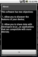 Screenshot of Device Information