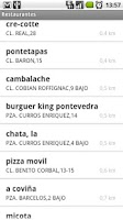 Screenshot of Restaurantes