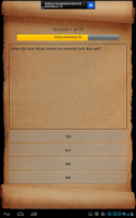 Screenshot of Bible Trivia