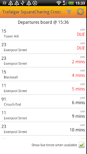 UK Bus Times Live: Bus Scout - screenshot