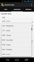 Screenshot of Kursna Lista - Srbija
