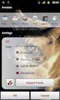 Screenshot of Band Launcher