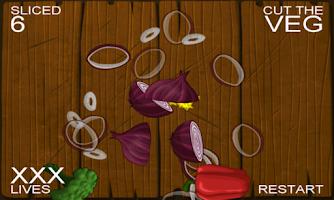 Screenshot of Cut the Veg. Ninja Edition