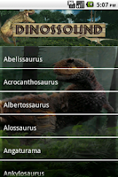 Screenshot of dinosaurs Sound Board