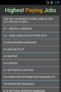 Best Paying Jobs - screenshot