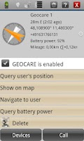 Screenshot of GEOCARE™ Mobile