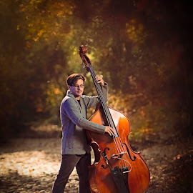 Playing in the Woods by Lance Emerson - People Musicians & Entertainers ( san diego, art, stephen gentillalli, bassist, musician, upright bass,  )