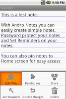 Screenshot of Andro Notes