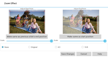 Screenshot of PhotoStage Slideshow Free