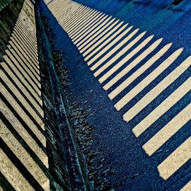 The Bridge Shadows by Barbara Brock - Abstract Patterns ( leading lines, bridge shadows, shadows )