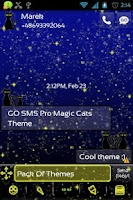Screenshot of GO SMS Pro Magic Cats Theme