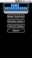 Screenshot of Game Encyclopedia