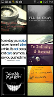 Screenshot of Quotes for Instagram