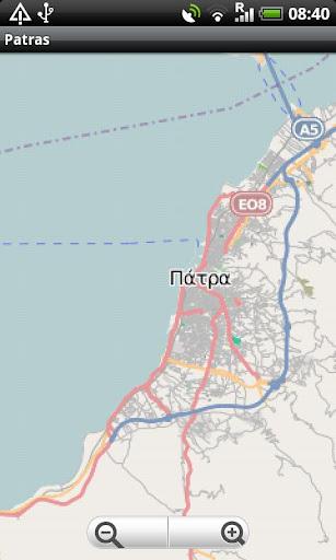Patras Street Map