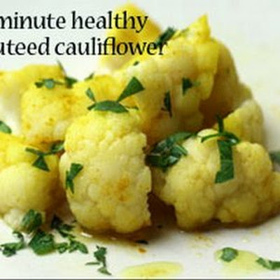 5-Minute Healthy Sauteed Cauliflower With Turmeric