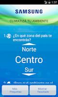 Screenshot of Samsung Aire Acondicionado