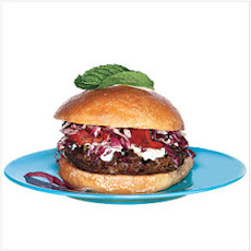 Lamb Burgers with Indian Spices and Yogurt-Mint Sauce