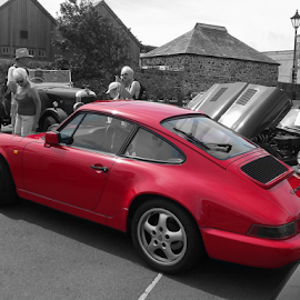 Stand out Porche by Dave Turner - Transportation Automobiles ( car, colour pop, red, transport, porche,  )