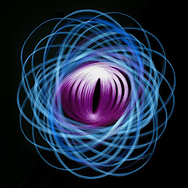Eye by Ivana Iva - Abstract Light Painting ( home, light painting, purple, blue, night )