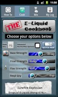 Screenshot of THE E-Liquid Cookbook