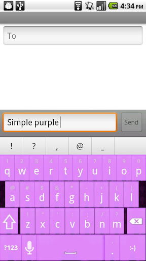 Simply purple Keyboard Skin