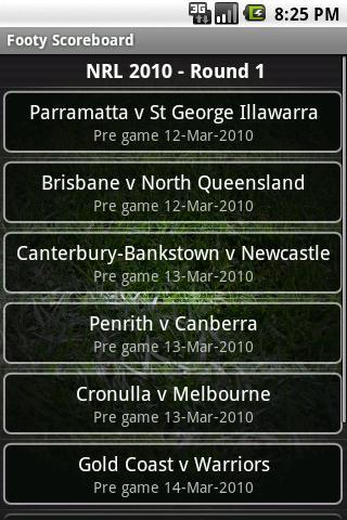 Footy Scoreboard