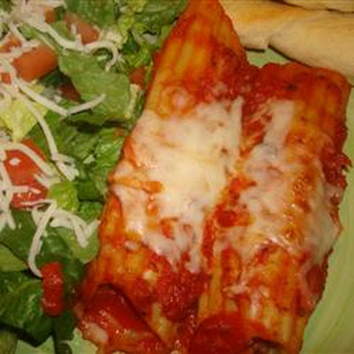 Meat Filled Manicotti