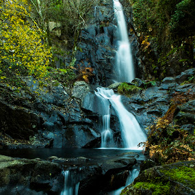 Waterfall Pedra Ferida by Nuno Miguel Valente - Landscapes Waterscapes ( penela, espinhal, pedra ferida, coimbra, waterfall )