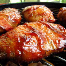 Smoked Bacon Wrapped Chicken Breasts