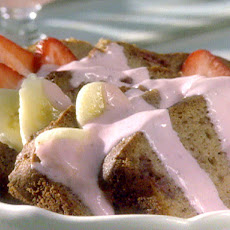 Strawberry Banana Bread Pudding