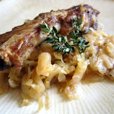 Double the Luck Ribs With Sauerkraut & Cabbage