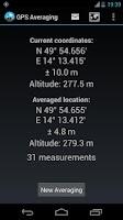 Screenshot of GPS Averaging