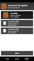 Screenshot of Advanced Bill Splitter